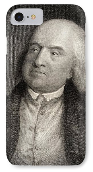 Jeremy Bentham 1748 To 1832 English IPhone Case by Ken Welsh