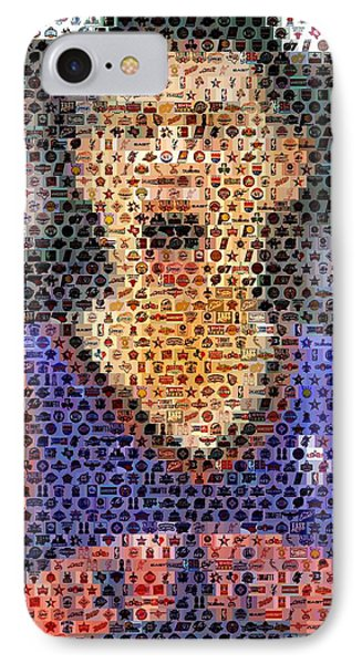 Jeremy Lin Mosaic Phone Case by Paul Van Scott