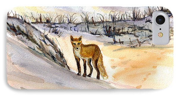 IPhone Case featuring the painting Jersey Shore Fox by Clara Sue Beym