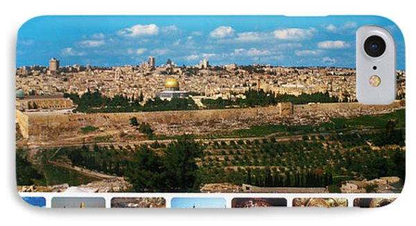 Jerusalem Poster Phone Case by Munir Alawi