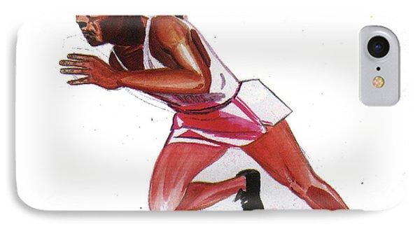 Jesse Owens Phone Case by Emmanuel Baliyanga