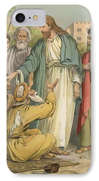 Jesus And The Blind Men Phone Case by English School