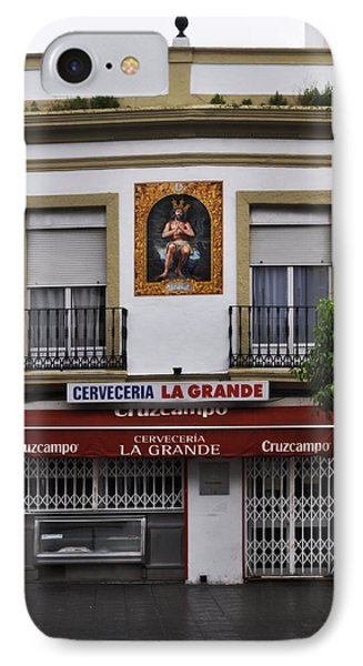 Jesus And The Cerveceria IPhone Case by Mary Machare