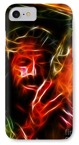 Jesus Carrying The Cross No2 IPhone Case by Pamela Johnson