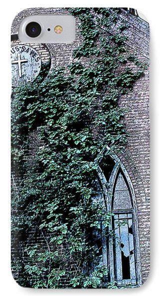 IPhone Case featuring the photograph Jesus Saves...just Not This Church by John Crothers