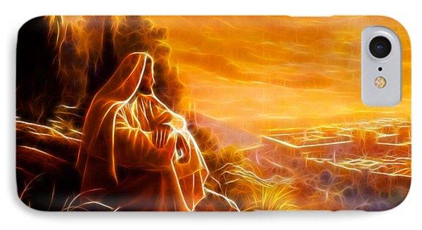 Jesus Thinking About People Phone Case by Pamela Johnson