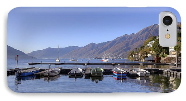 jetty in Ascona IPhone Case by Joana Kruse
