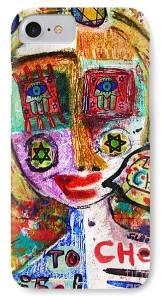 Jewish Angel Phone Case by Sandra Silberzweig