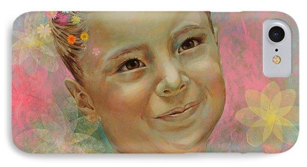 Joana's Portrait IPhone Case by Karina Llergo