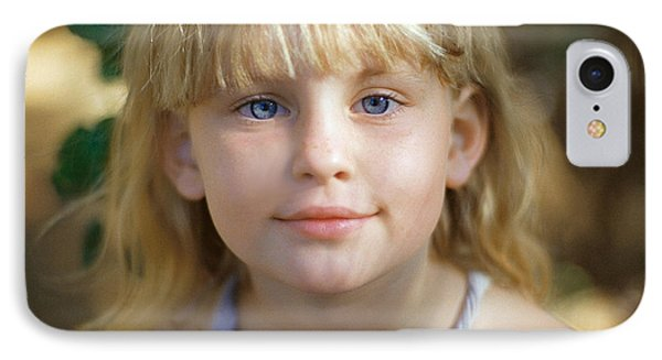 Portrait Of A Young Girl IPhone Case by Mark Greenberg