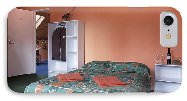 Jogeva County A Double Bed In A Bedroom Phone Case by Jaak Nilson