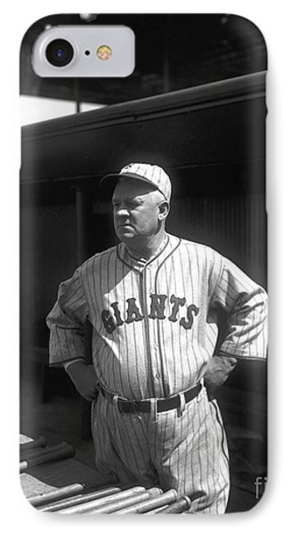 John Mcgraw -  New York Giants Phone Case by David Bearden