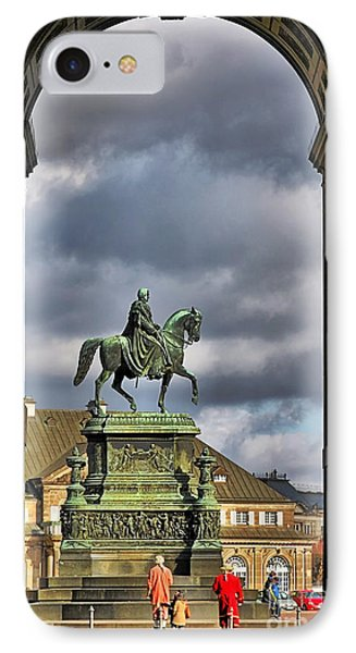 John Of Saxony Monument - Dresden Theatre Square Phone Case by Christine Till