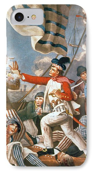 John Paul Jones Shooting A Sailor Who Had Attempted To Strike His Colours In An Engagement Phone Case by John Collet