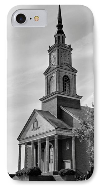 John Wesley Raley Chapel Black And White Phone Case by Ricky Barnard