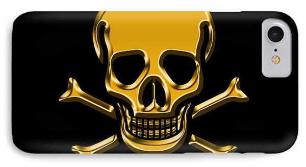 Jolly Roger Gold IPhone Case by Andrew Fare