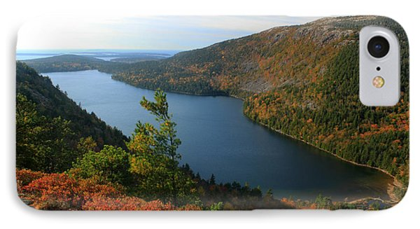 Jordan Pond In Autumn From North Bubble Acadia National Park Phone Case by John Burk