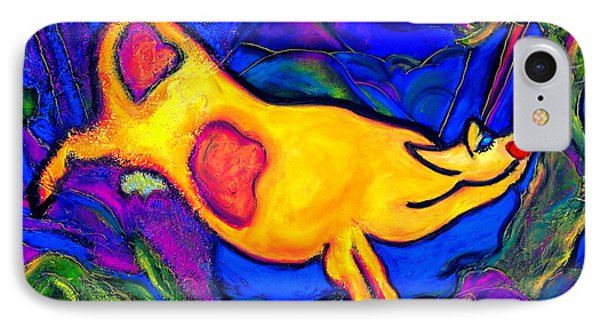 Joyful Yellow Cow IPhone Case