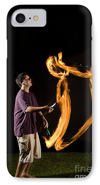 Juggling Fire IPhone Case