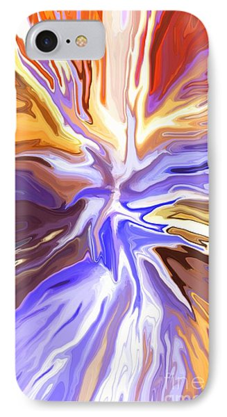 Just Abstract V Phone Case by Chris Butler