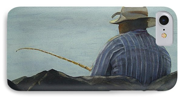 Just Fishing Phone Case by Sarah Buell  Dowling