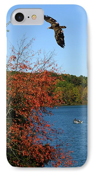 IPhone Case featuring the photograph Juvenile And Fishermen by Randall Branham