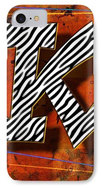 K IPhone Case by Mauro Celotti