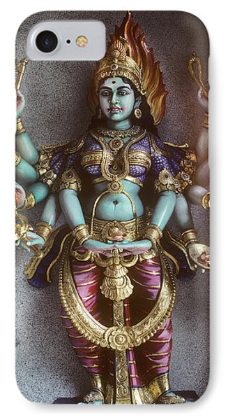 Kali Statue In Singapore Phone Case by Carl Purcell