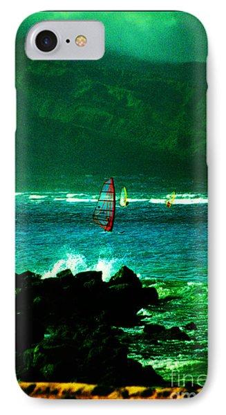 Kanaha Windsurfers Phone Case by Susanne Still