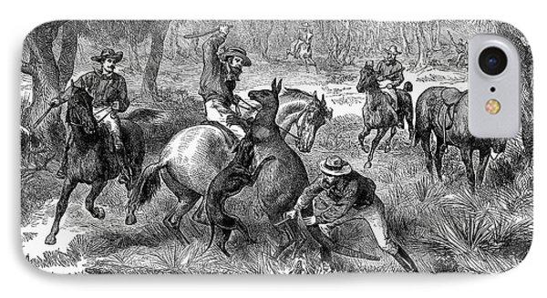 Kangaroo Hunting, 1876 Phone Case by Granger