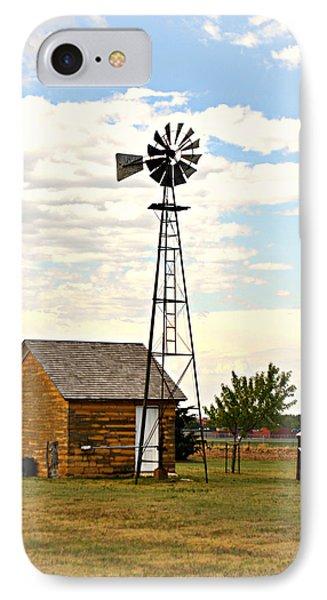 Kansas Windmill 1 Phone Case by Marty Koch