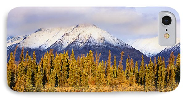 Kathleen Lake And Mountains At Sunrise Phone Case by Yves Marcoux