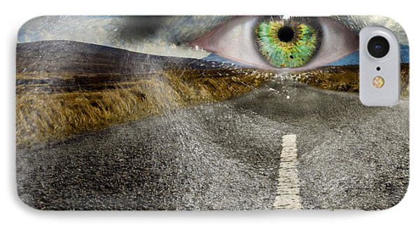 Keep Your Eyes On The Road Phone Case by Semmick Photo