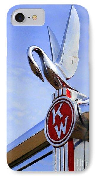 Kenworth Insignia And Swan IPhone Case by Karyn Robinson
