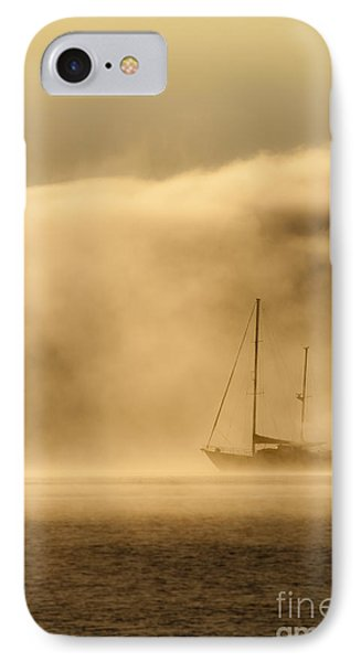 Ketch In Mist Phone Case by Avalon Fine Art Photography