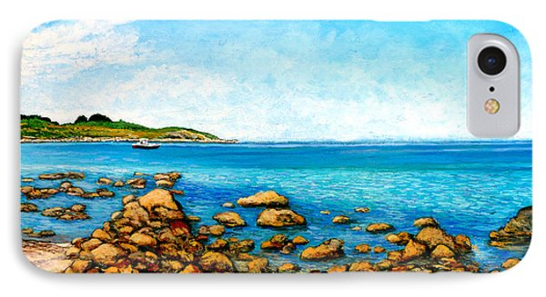 IPhone Case featuring the painting Kettle Cove by Tom Roderick