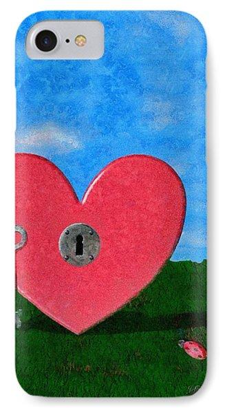 Key To My Heart Phone Case by Jeffrey Kolker