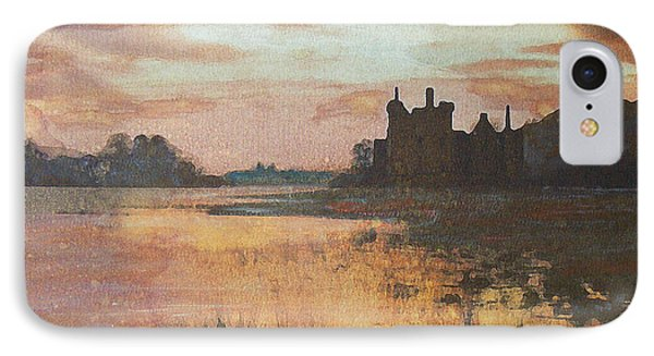 IPhone Case featuring the painting Kilchurn Castle Scotland by Richard James Digance