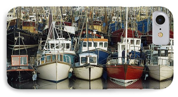 Kilkeel, Co Down, Ireland Rows Of Boats Phone Case by The Irish Image Collection
