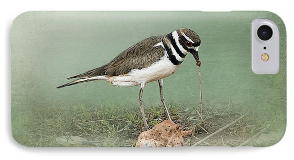 Killdeer And Worm IPhone 7 Case by Betty LaRue