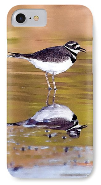 Killdeer Reflection IPhone 7 Case by Betty LaRue