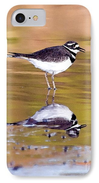 Killdeer Reflection IPhone Case by Betty LaRue