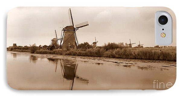 Kinderdijk In Sepia Phone Case by Carol Groenen