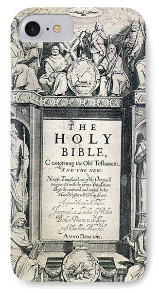King James I Bible, 1611 Phone Case by Granger