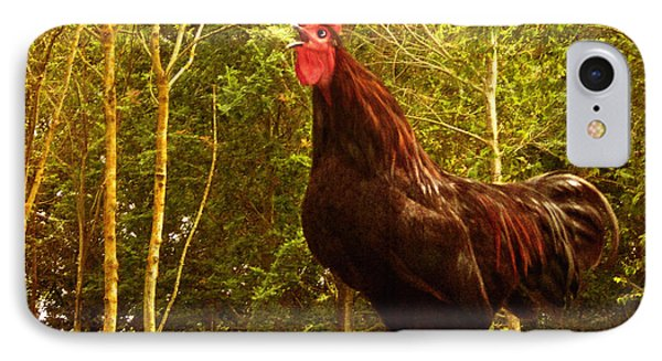 King Of The Barnyard - Rooster Phone Case by Yvon van der Wijk