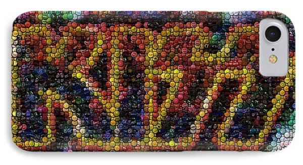 Kiss Bottle Cap Mosaic Phone Case by Paul Van Scott