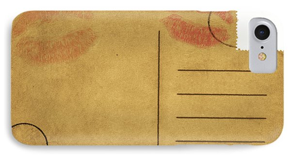 Kiss Lips On Postcard Phone Case by Setsiri Silapasuwanchai