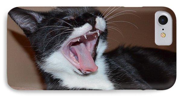 Kitten Yawns IPhone Case by Melissa Goodrich