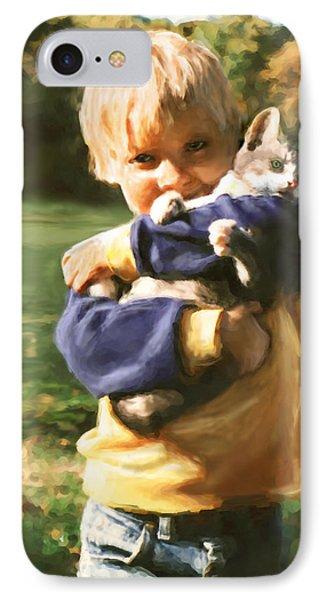 Kitty Love Phone Case by Barbara Hymer