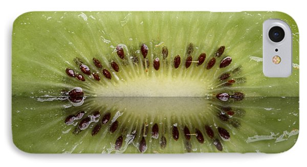 Kiwi Fruit Reflected On Glass Phone Case by Mark Duffy